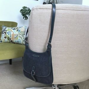 Dooney & Bourke Bags - Dooney & Bourke Saddlebag Slim Bag Denim Leather